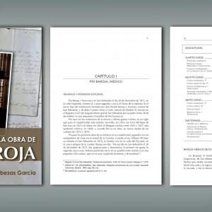 portada  e interior de la tesis sobre Pío Baroja